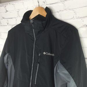 Columbia black/gray waterproof fabric jacket